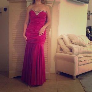 Beautiful crystal dress